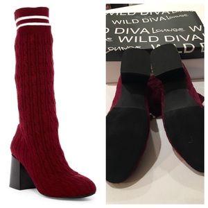 """WILD DIVA """"Turn up boot sock"""" NWOT"""